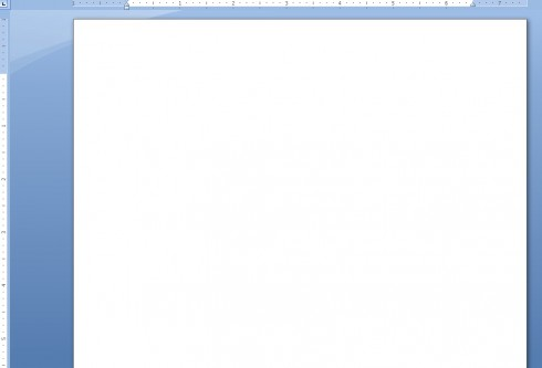 Blank MS Word Page